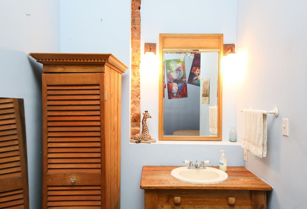 Sink and armoire