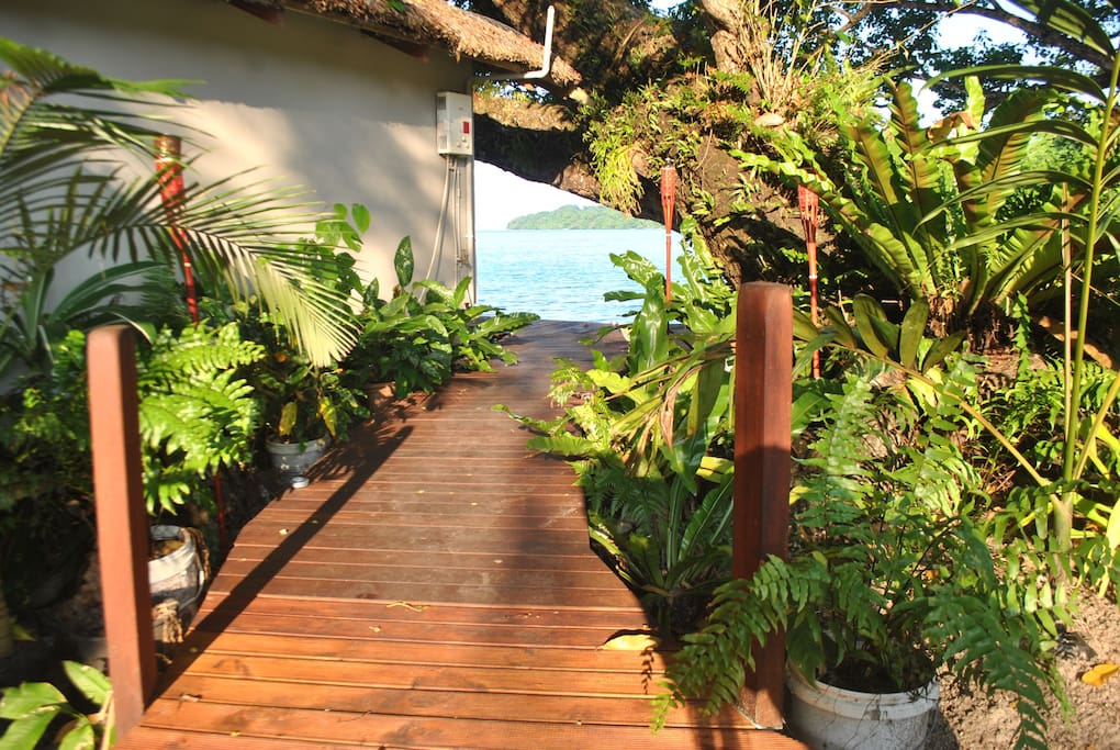 The walkway to your accommodation