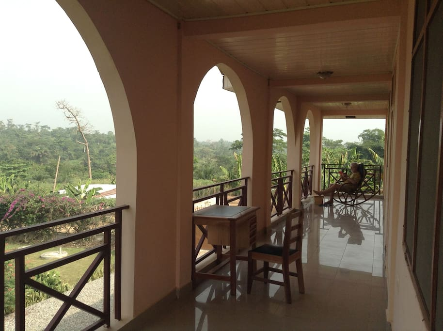 View from ground level verandah, to the right is room plus separate entrance of caretaker