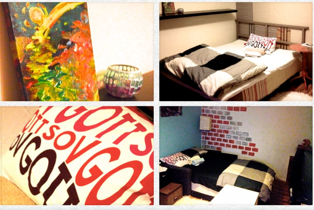Fresh sheets, pillows, and towels ready for you to have a good night sleep!