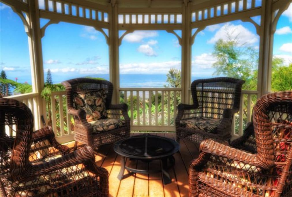 gazebo overlooking south and north shores