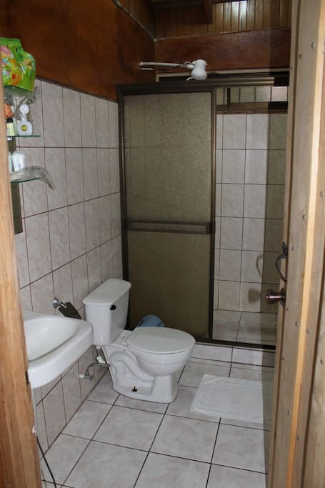 Private Bathroom with hot water shower