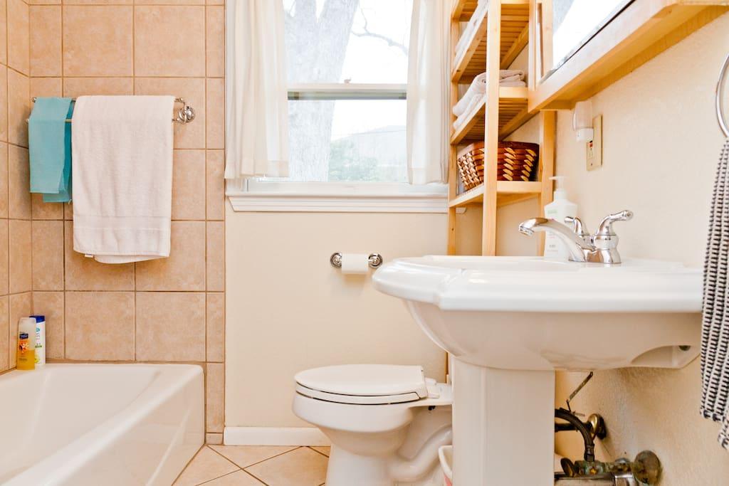 The remodeled bathroom
