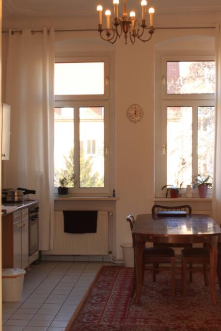kitchen with electric stove, oven, dishwasher etc.