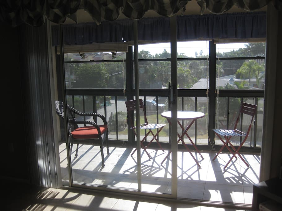 View from your private lanai!  Coffee, anyone?  Or watch the sunset!
