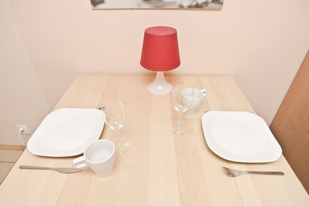 Enjoy your meal which you can prepare in fully equipped kitchen