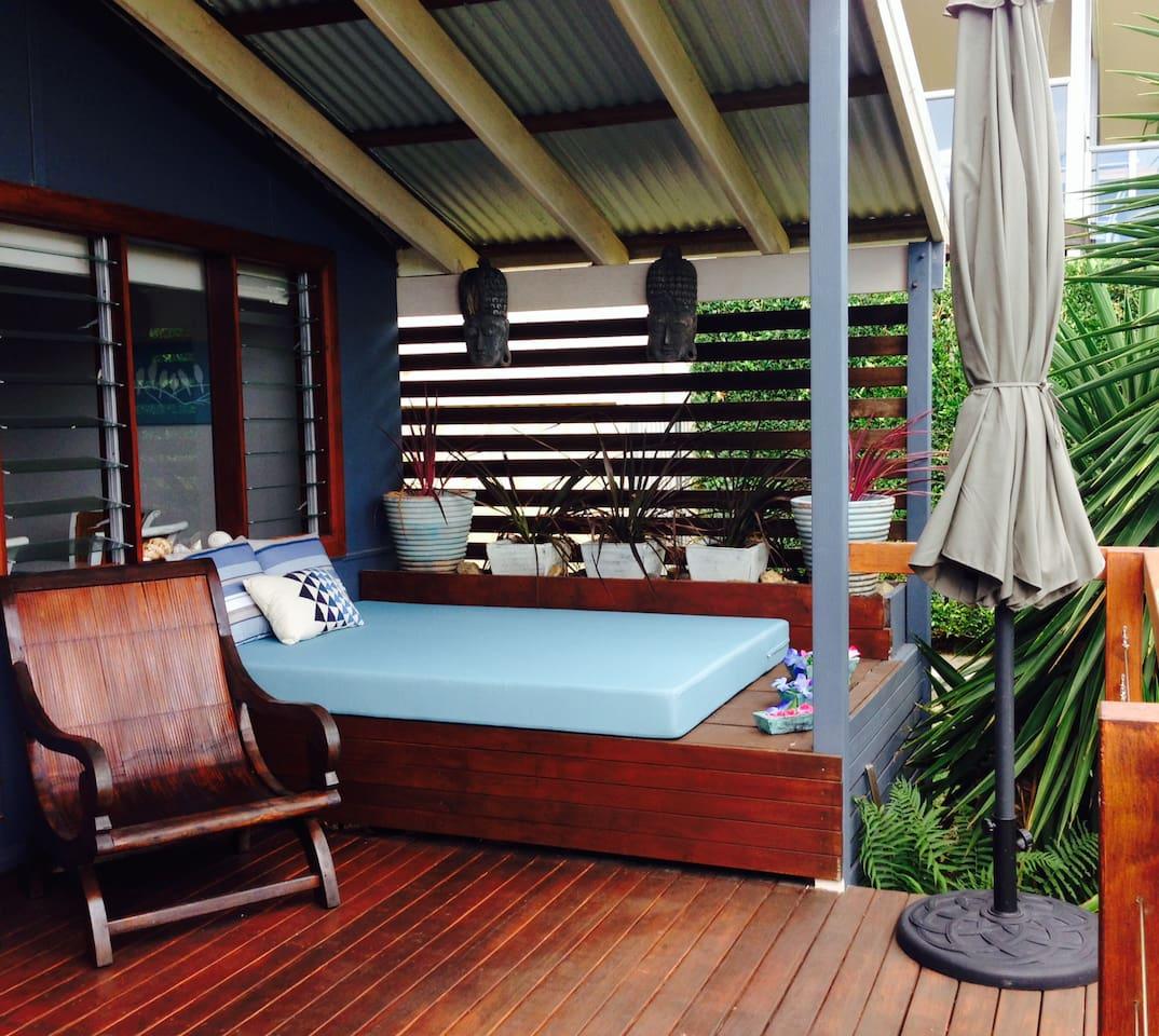Relaxing Day Bed on front verandah