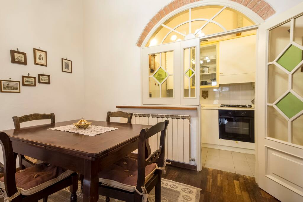 Dining-room and kitchen