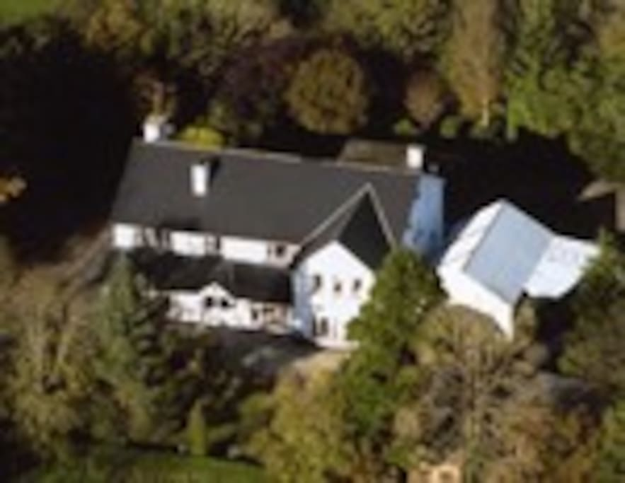 Arch House from the air