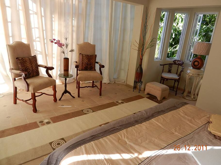 The Master Luxury Bedroom Suite... elegant, comfortable, airy...