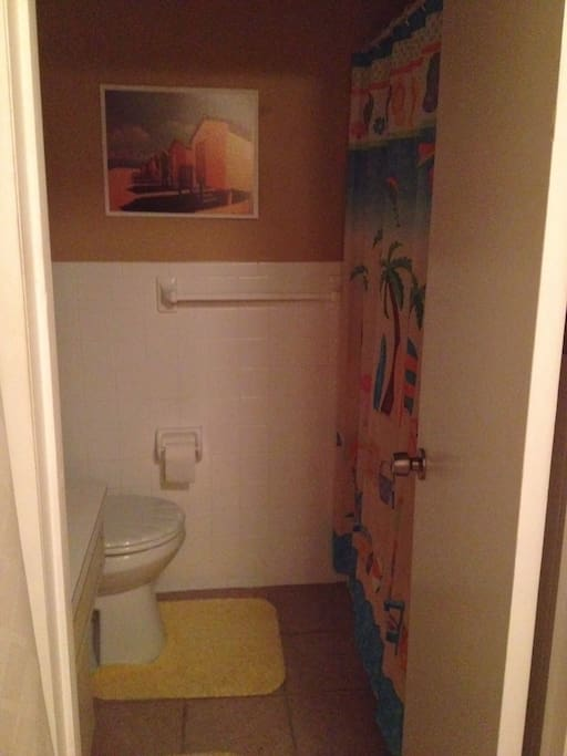 Bathroom is cleaned with steam and non-chemical cleaners free of irritating odors. Shower features chlorine filter.
