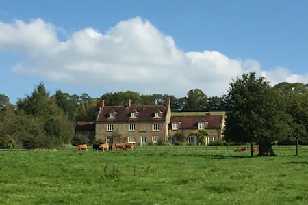 Beautiful secluded Somerset farmhouse - Bratton Seymour - Huis