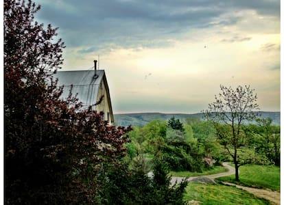 100 ac. Orchard & Flower Farm House - Casa