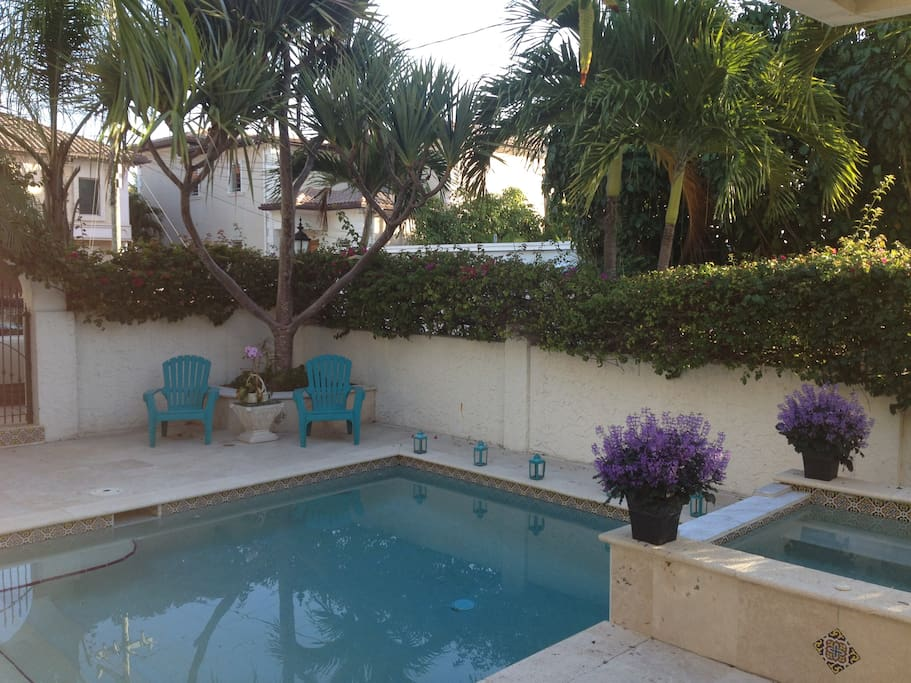 Our private pool is the perfect spot to relax, get some sun, read a book...