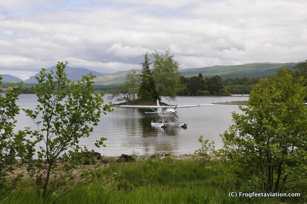 Seaplane cabin on any European Lake