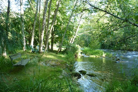 Treed garden acre on the river... - Maple Ridge