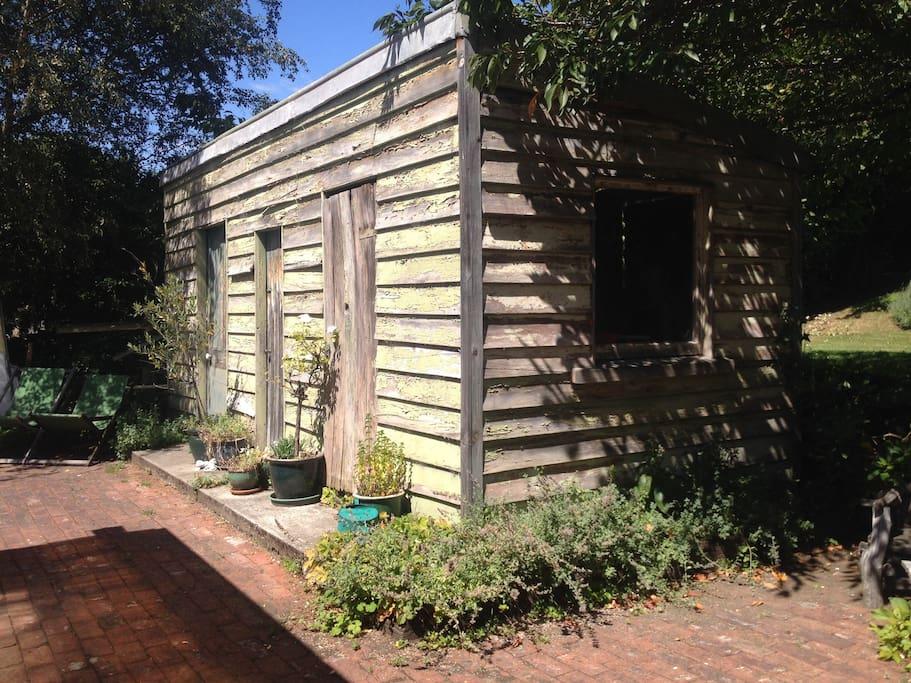 Rustic original sheds.