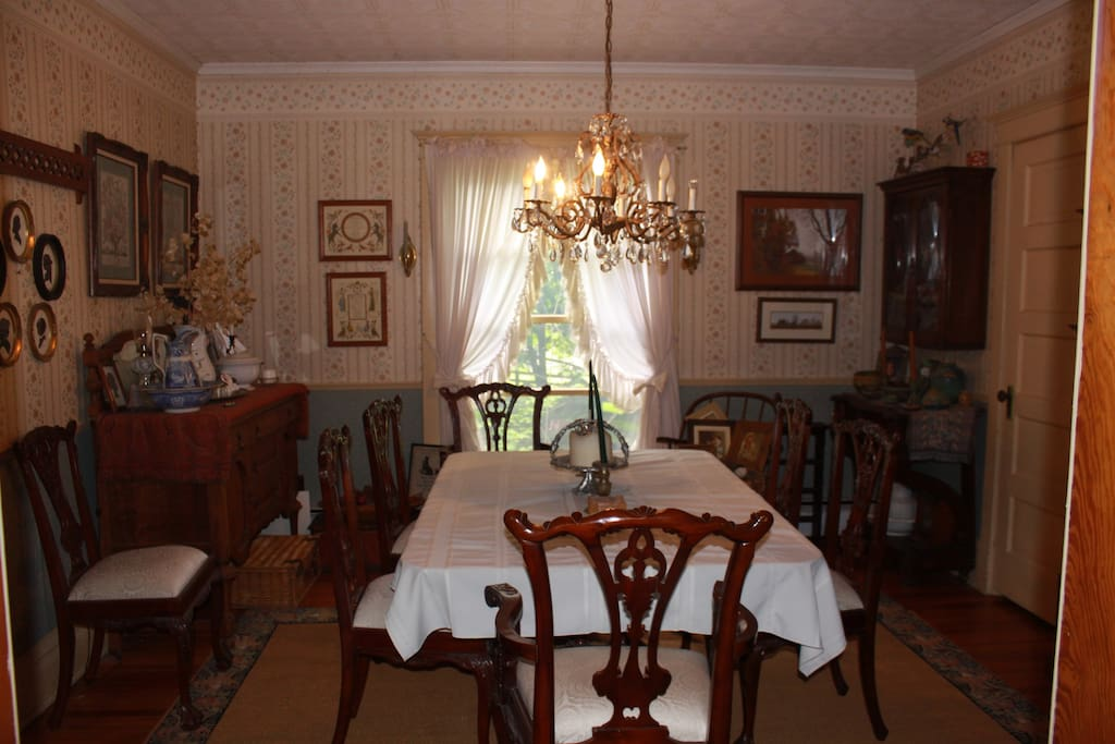 Formal dining room view from the living room