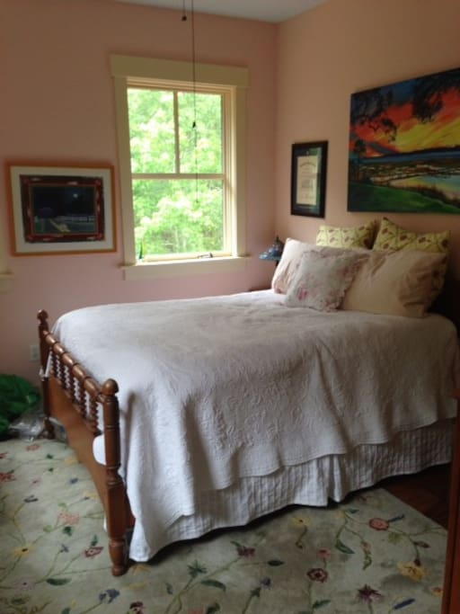Our 3rd upstairs bedroom, all which feature full-sized beds.