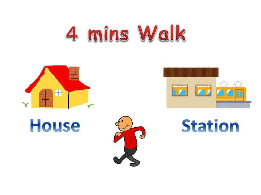 Easy Access from Station ( 4 mins walk, 300 meter )