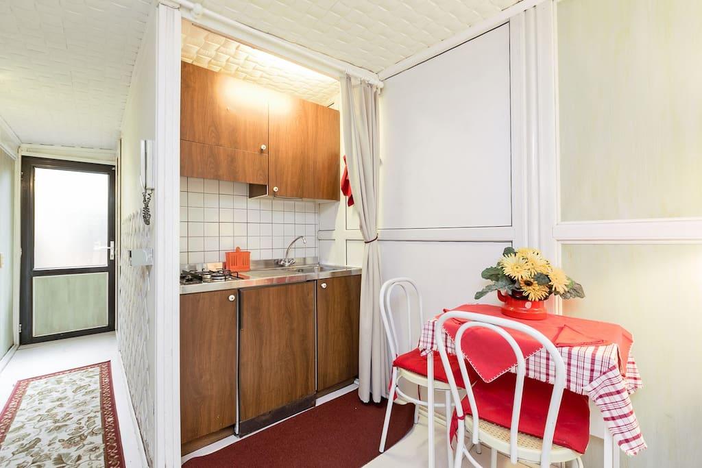 kitchen corner in the morning