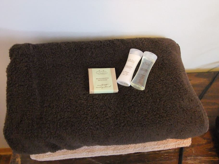 Clean Towels and soap for your stay