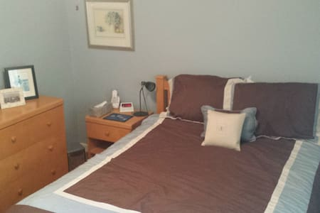 Comfy room minutes from downtown