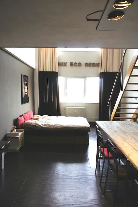 bed and stairs