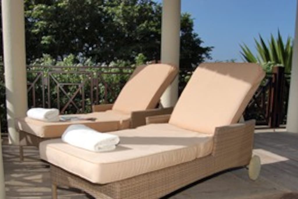 Enjoy a midday siesta, on your deck beds.