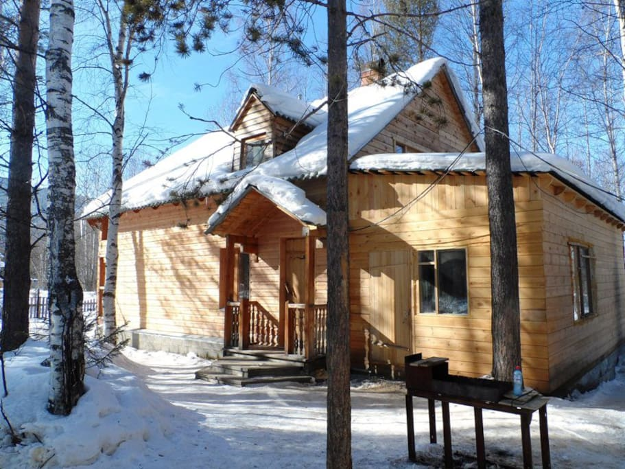 Fedor's house in winter