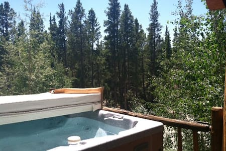 Amazing Mtn Log Cabin w Hot Tub!! Secluded, Quiet - Fairplay - Casa