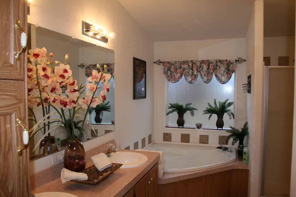 Beautiful Master Bathroom Suite with walk-in shower.