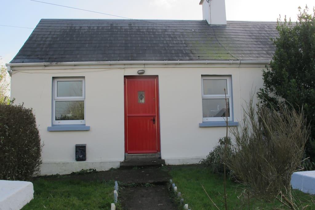front of the cottage with irish 'half door'