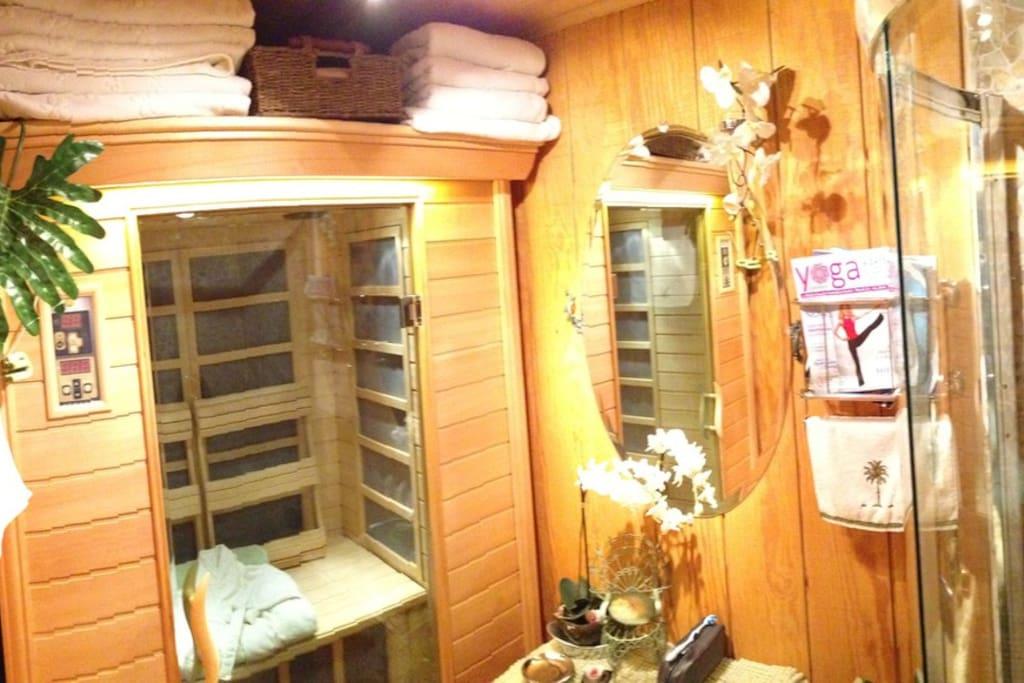 Dry infra-red sauna
