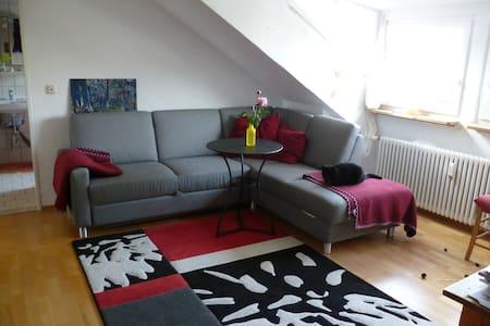 helle gemütliche Dachwohnung - Apartamento