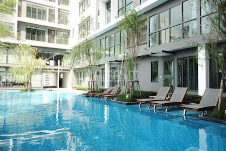 2 Min to MRT Phra Ram 9 / Central Plaza / Fortune - Wohnung
