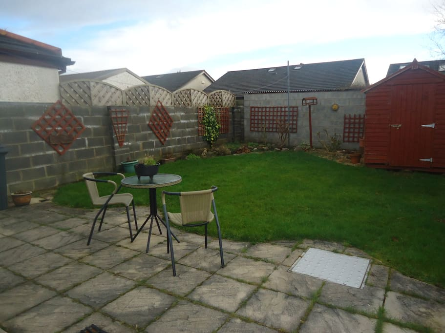 Suntrap and lovely area for relaxing
