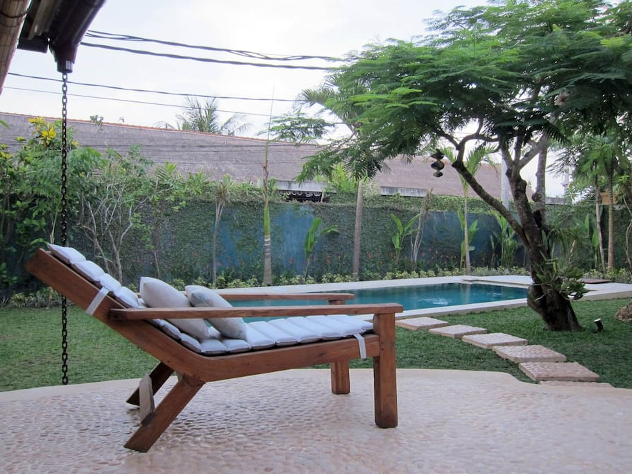 Enjoy your private pool and garden in the comfort of unique antique furniture.