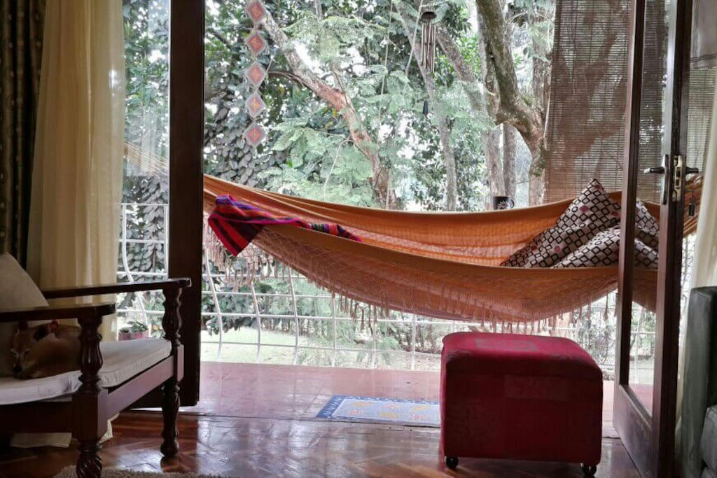 Comfortably addictive balcony hammock