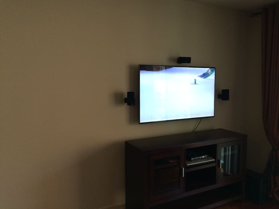 Living Room (TV with Bose surround sound + Apple TV)