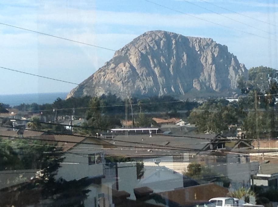 """The view of """"The Rock"""" from the dining room window will make you gasp : )"""