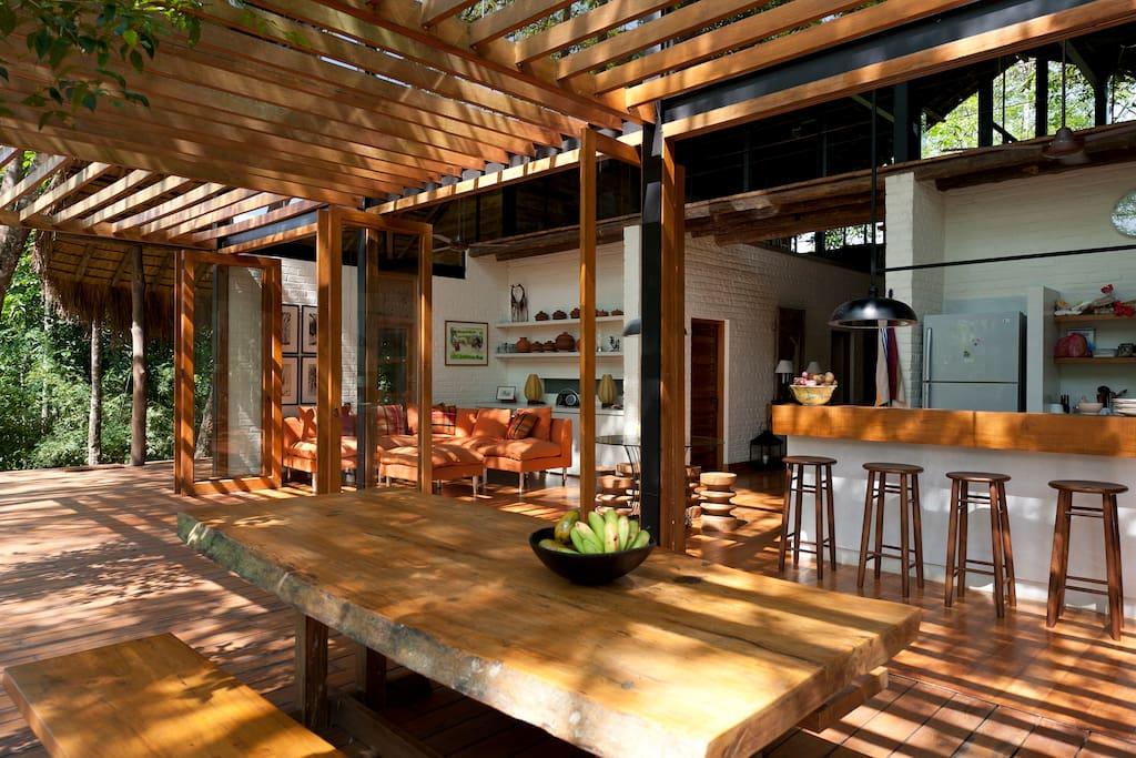 Sri lankan tropical retreat houses for rent in hemmathagama for Kitchen designs sri lanka