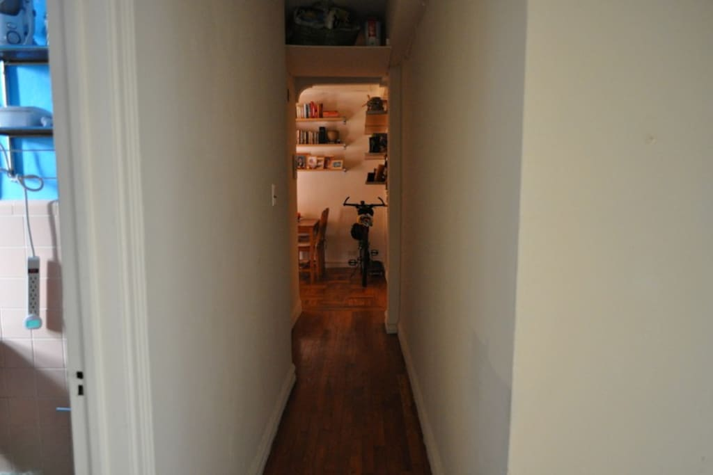 Hallway separates the bedrooms and bath from the common area for added peace and quiet.