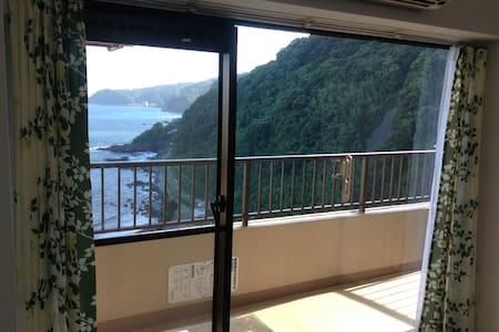 オープン記念の特別料金ー太平洋が一望、広いベランダ、温泉大浴場・サウナ・ジム付きリゾートマンション - Condominium