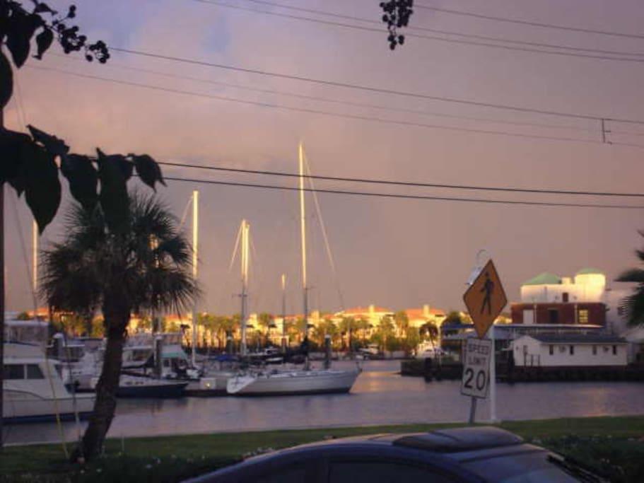 View of Marina at dusk