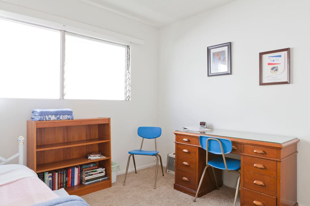 Desk and chairs in the private bedroom