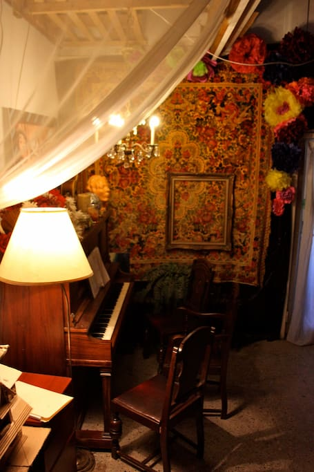 Piano room. Please play us a song :)