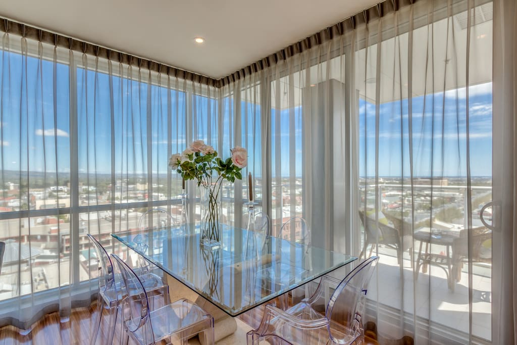 Dining with Adelaide views