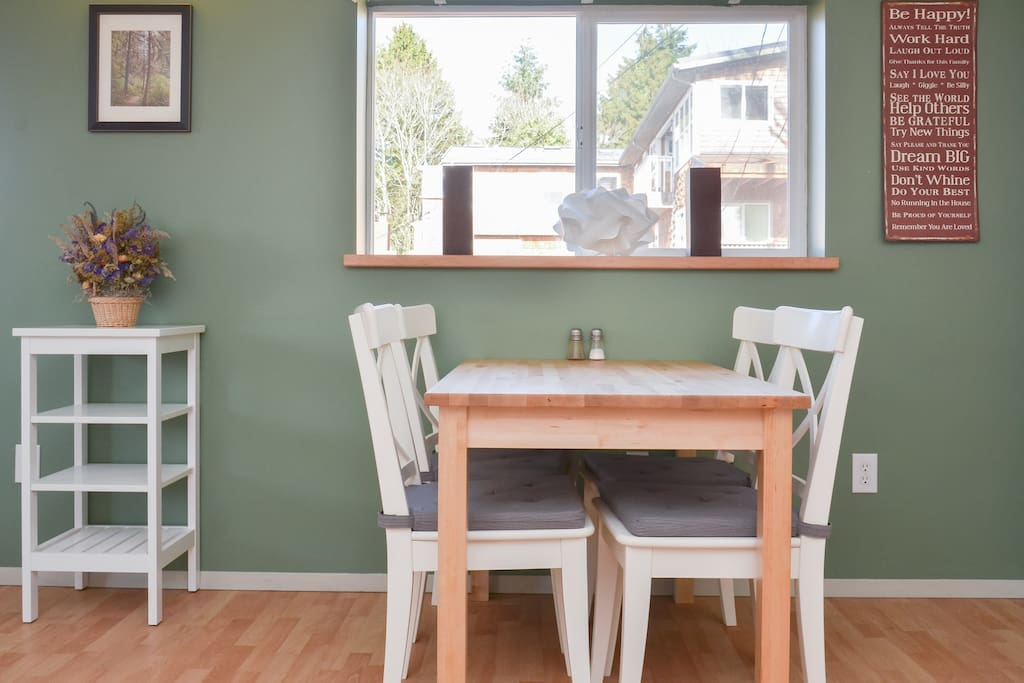 Dining table with chairs for 4