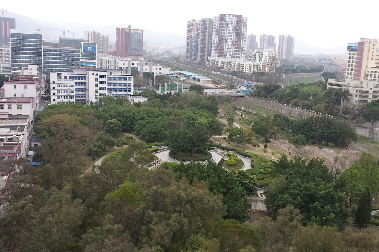 Right text to Pingshan Park